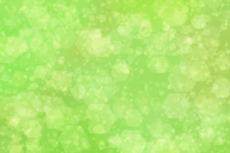 green abstract defocused background with hexagon shape bokeh spots Stok Fotoğraf