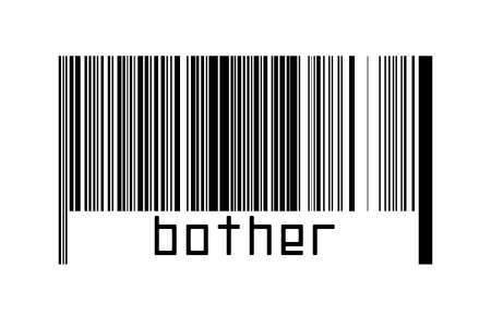 Digitalization concept. Barcode of black horizontal lines with inscription bother below.