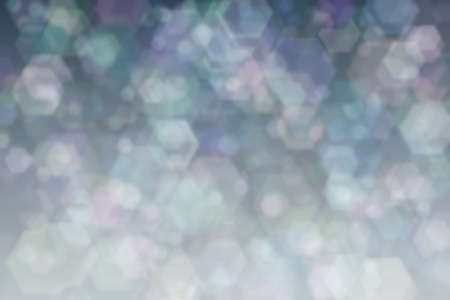 Colorful background with hexagon shaped bokeh spots. Abstraction 스톡 콘텐츠