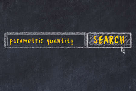 Concept of searching parametric quantity. Chalk drawing of browser window and inscription 版權商用圖片