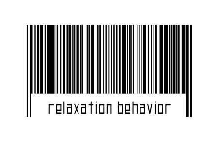 Digitalization concept. Barcode of black horizontal lines with inscription relaxation behavior below. 版權商用圖片