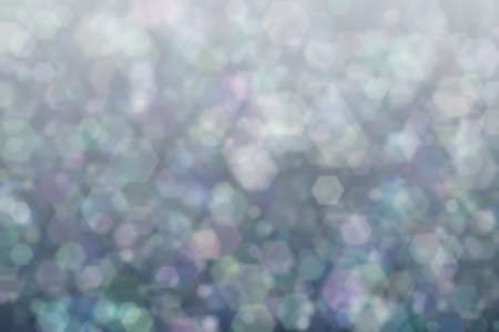 Colorful background with hexagon shaped bokeh spots. Abstraction 版權商用圖片