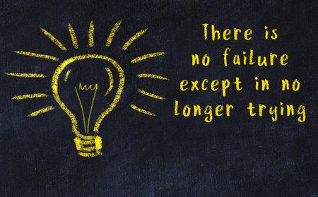 Smart quotation handwritten on a chalkboard and a light bulb sketch Stock fotó