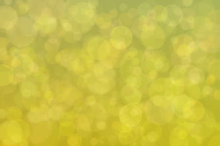 golden abstract defocused background with circle shape bokeh spots
