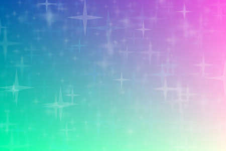blue and beige abstract defocused background with star shape bokeh spots