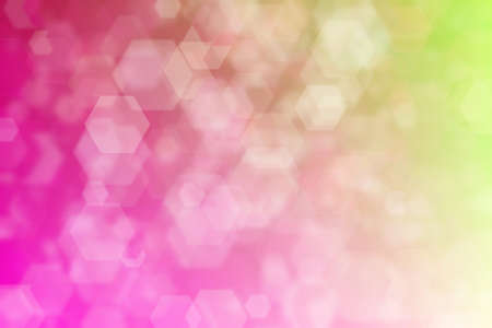 crimson and beige abstract defocused background with hexagon shape bokeh spots Imagens