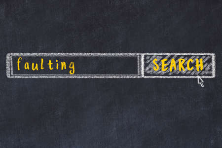 Concept of searching faulting. Chalk drawing of browser window and inscription 스톡 콘텐츠