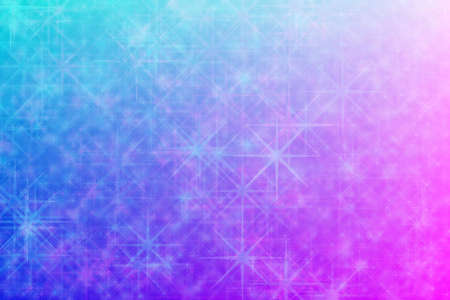 pink and light blue abstract defocused background with star shape bokeh spots
