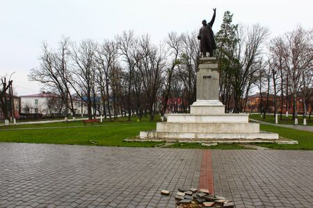Lipcani, Moldova March 21, 2020 One of the last surviving monuments in the country to Vladimir Ilyich Lenin 写真素材