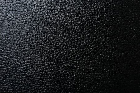 Textured black leather, place for text or inscription, blank for design, background