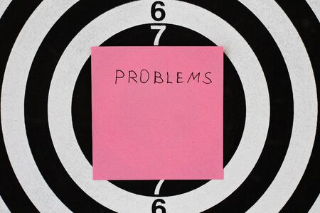 Sticker: Problem's in the center of the target for shooting.