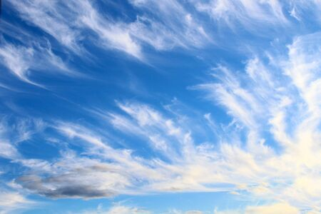 Beautiful sky in windy weather, symbolic creative background