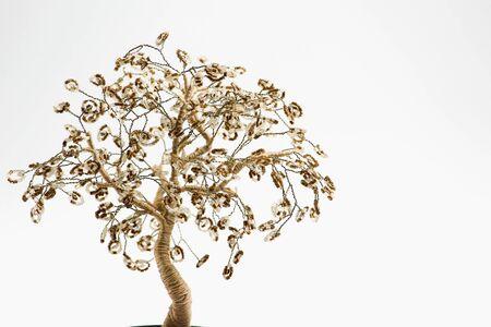 Craft money tree on a light background