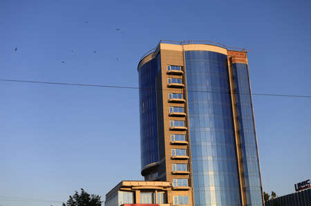 July 2, 2020 Beltsy or Balti, Moldova city center. Editorial Use Only