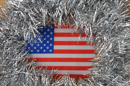 New Year in the USA. Abstract Christmas background, selective focus. Stock Photo