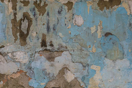 Old cracked grunge texture wall background, toned Foto de archivo - 153527181
