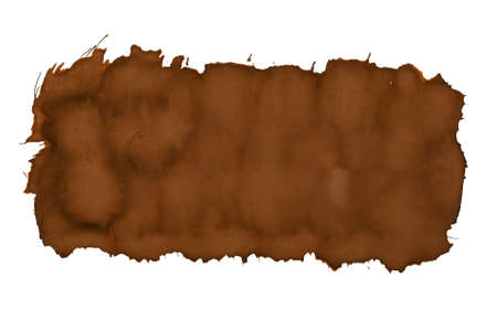 Texture trace from a brush with paint on a white background, isolated. Preparation for a design or graphic resource