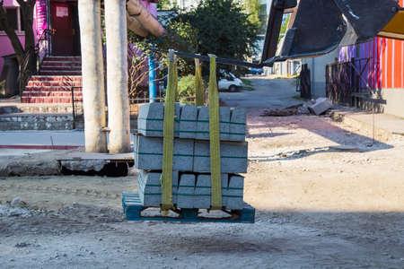 September 14, 2020 Balti or Beltsy Moldova renovation work in the city. Utilities illustrative editorial