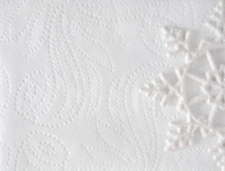 Christmas Minimal Elegant Background Snowflake On White Paper