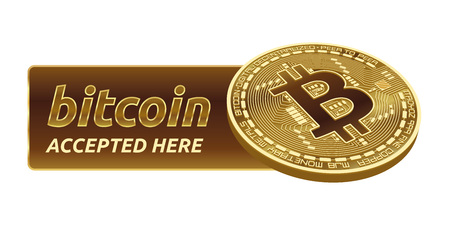 Bitcoin. 3D isometric Physical bit coin. Digital currency. Cryptocurrency. Golden coin with bitcoin symbol isolated on white background. Stock vector illustration.