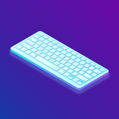 Keyboard. Isometric Keyboard. Created For Mobile, Web, Decor, Print Products, Application. Perfect for web design, banner and presentation Vector Illustration