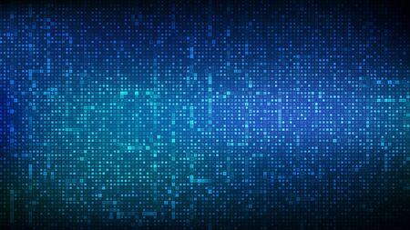 Fond de code binaire. Données binaires numériques et fond de code numérique en continu. Cyberespace futuriste abstrait. Fond de matrice avec des chiffres 1.0. Concept de codage ou de hacker. Illustration vectorielle