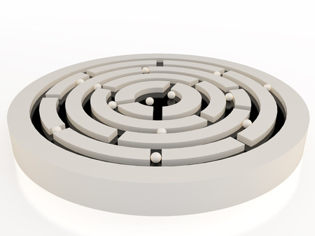 labyrinthine: Spheres in an abstract maze, 3D