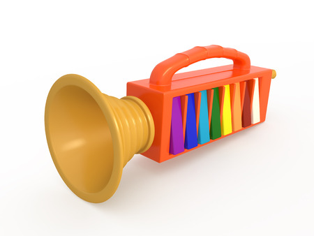 fife: Isolated toy fife, music instrument, 3D