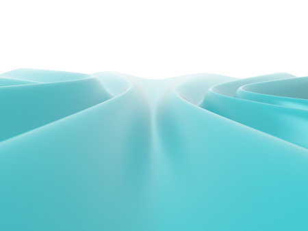 sinusoidal: Abstract wavy blue surface, 3D rendering image