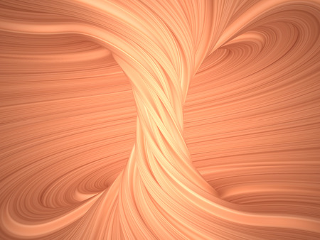 hot tub: Inside view of a torus, 3D illustration