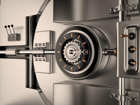 View of Vault Door, 3D rendering image photo