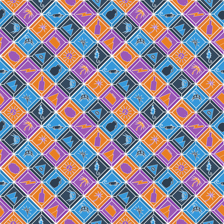 palmtrees: African seamless pattern in flat style. Vector illustration