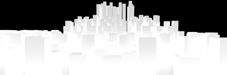 Cityscape isolated on white background, 3D rendering image photo