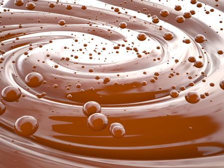 swirl: Chocolate cream swirl background, 3D rendering image
