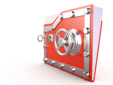 folder lock: Folder and lock - Data security, 3D illustration