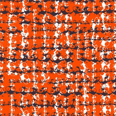 baile caricatura: Pájaros baile divertidos. Patrón transparente. Ilustración vectorial Vectores