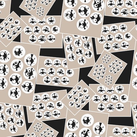 baile caricatura: Pictures with funny dancing birds. Seamless pattern. illustration