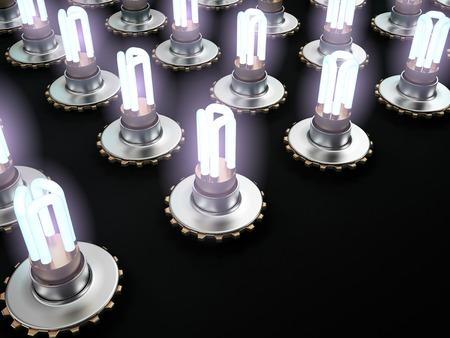 Concept of Lighting Equipment, 3D rendering image