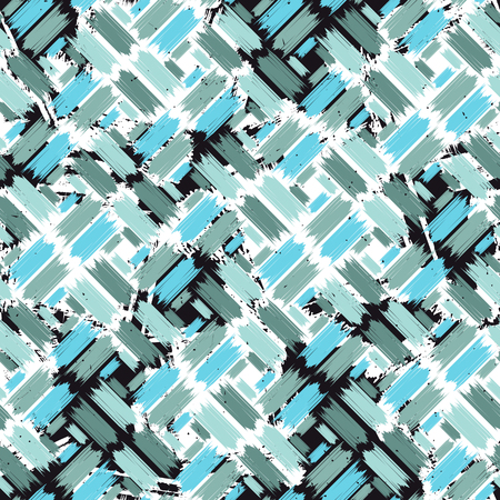 Grunge seamless pattern with paintbrush stripes. Vector illustration