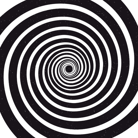 Spiral background. Optical illusion. Grunge vector illustration Illustration