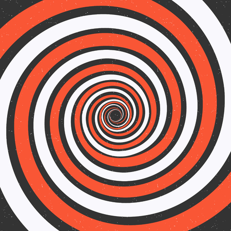 Spiral background. Optical illusion. Grunge vector illustration Stock Vector - 87285245