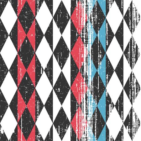 argyle: Colored geometric pattern. Illustration