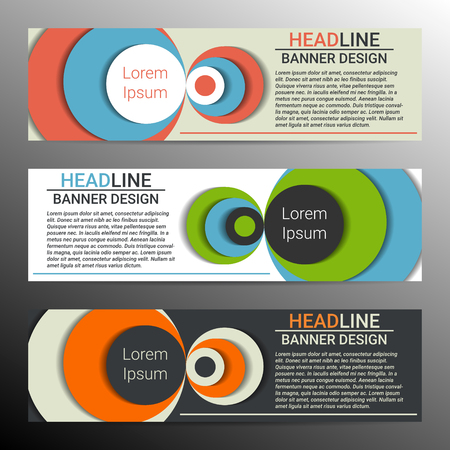 Banner design with place for text. Infographic conception, vector illustration.