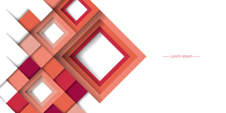Abstract geometric background with rhombuses. Vector illustration Foto de archivo - 99833587