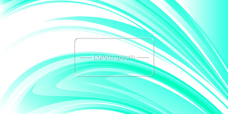 Horizontal banner. Light-blue abstract background with place for text. Vector illustration Ilustracja