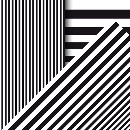 Abstract striped background. Diagonal, vertical and horizontal lines. Vector illustration