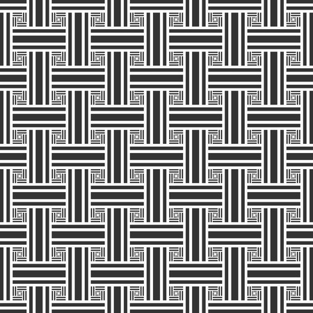 Geometric seamless pattern. Black and white. Vector illustration Ilustracja