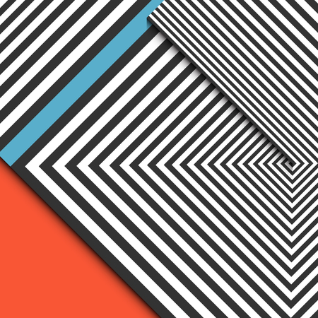 Abstract striped background. Optical illusion with diagonal lines. Vector illustration