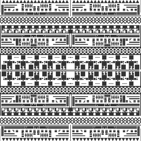 Seamless decorative geometric pattern. Black and white. Abstract background. Vector illustration