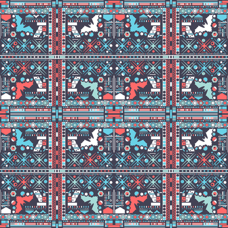 Seamless decorative geometric pattern. Abstract background. Vector illustration